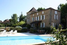 Near Gourdon (Lot) - Reduced - Superb Maison de Maitre beds) with a second 3 bed house, plus 2 studios and a swimming pool Three Bedroom House, French Property, Maine House, Studio Apartment, Ground Floor, 18th Century, Swimming Pools, Barn, Mansions