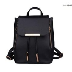 Fashion Women's PU Leather Backpack Women's Backpack Black Shopping Travel Backpack Black – Buy / Sell Backpack 0728520812452 – Cdiscount rnrnSource by camyou Mini Backpack, Black Backpack, Travel Backpack, Fashion Backpack, Leather Satchel, Leather Backpack, Aesthetic Backpack, Hair Band For Girl, Girl Backpacks