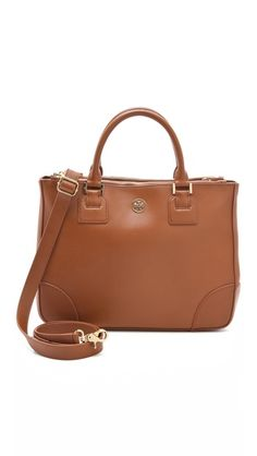 Tory Burch Robinson Double Zip Tote. Beautiful shape, structure and colour.