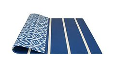 baby play mat | one-piece reversible foam mat | eco-friendly | 6.5ft x 4.5ft (blue)