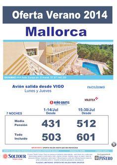 Mallorca: Oferta Hotel Bahamas salidas desde Vigo ultimo minuto - http://zocotours.com/mallorca-oferta-hotel-bahamas-salidas-desde-vigo-ultimo-minuto-2/
