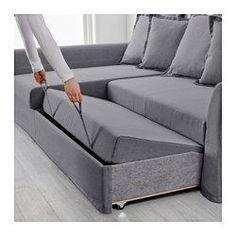 A corner sofa bed for your home Stylish . IKEA HOLMSUND corner sofa-bed Cover made of extra hard-wearing polyester corner sofa bed Sofa Tv, Ikea Sofa Bed, Sofa Furniture, Living Room Furniture, Futon Sofa, Furniture Layout, Small Couches Living Room, Pit Couch, Ideas