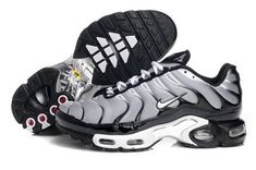 low priced 551d3 c2ffd Mens Nike Air Max Tn Black Grey White Factory Store