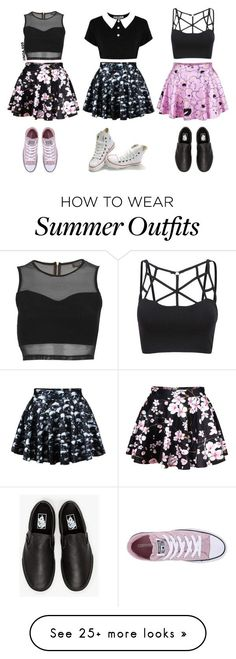 """3 Outfits"" by noa005 on Polyvore featuring Topshop, Converse and Vans..."