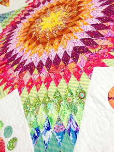 A close up pic of my Lone Star quilt by Emma Jean Jansen