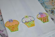 Cupcake Food Applique Machine Embroidery Designs   Designs by JuJu