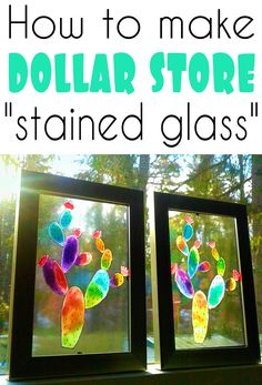 glass crafts for kids Turn dollar store items into beautiful faux stained glass windows Stained Glass Ornaments, Stained Glass Paint, Making Stained Glass, Stained Glass Projects, Stained Glass Patterns, Stained Glass Windows, How To Do Stained Glass Diy, Painting On Glass Windows, Window Paint