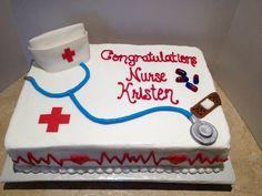 Nursing graduation cake - cake by Dee Nursing Graduation Cakes, Graduation Food, Doctor Cake, Nurse Party, Retirement Cakes, Retirement Parties, Grad Parties, Celebration Cakes, Cake Designs