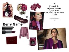 """""""Berry Game ~"""" by zaxyshoes-co-uk on Polyvore featuring Bite, Rebecca Minkoff, Ciaté, Bobbi Brown Cosmetics and Chicwish"""