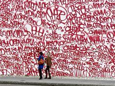 AMAZE tag wall.