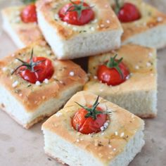 Focaccia cherry tomatoes (in French)