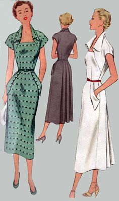1950s Vintage Sewing Pattern McCall 8036 COUTURE Glam Dress