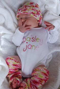 Hey, I found this really awesome Etsy listing at http://www.etsy.com/listing/64770823/stitched-name-onesie-knot-hat