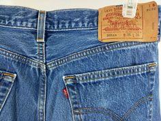 Levis 501xx Classic Jeans Made in USA Medium Wash Tag Sze 36x36 Actual 34x32 EUC #Levis #ClassicStraightLeg