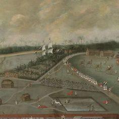 The Trading Post of the Dutch East India Company in Hooghly, Bengal, Hendrik van Schuylenburgh, 1665 - Rijksmuseum