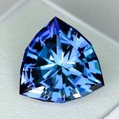 MJ1295 - 6.85ct Tanzanite - Tanzania 12.80 x 12.45 x 7.70 mm, clean, custom cut, standard heat , $2950 shipping included