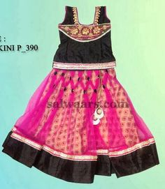 Indian Dresses: Black and Pink Parikini