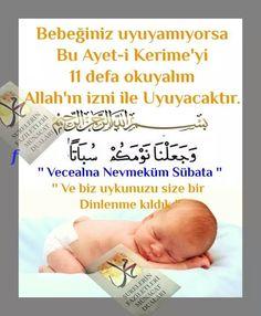 Bebeginizin oyuma sorunu varsa okunacak dua