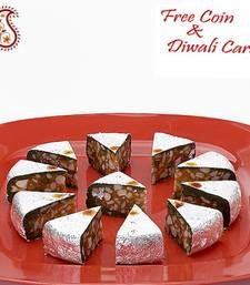 Buy Dryfruit stuffed Pista cake with Free Laxmi Ganesh Coin diwali-sweet online