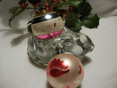 Vintage Glass Christmas Ornaments Ball Shaped by TheSandlapperShop, $14.00