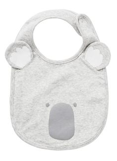 Cotton Rib Novelty koala bib with ears. Baby Koala, Koala Bears, Koala Nursery, Koala Craft, Tiffany Baby Showers, Babies R, Baby Accessories, Baby Bibs, Baby Wearing