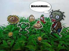 Imãs em ponto cruz Plants X Zombies