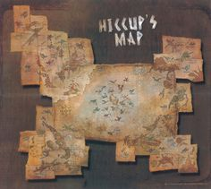 This is so awesome! High Def Hiccup's map. It's very interesting to look at up close.