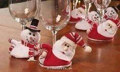 Santa and Snowmen Holiday Wine Glass Coasters Christmas Clay, Merry Christmas And Happy New Year, Christmas And New Year, Christmas Holidays, Christmas Shopping, Christmas Crafts, Christmas Decorations, Christmas Ornaments, Holiday Fun