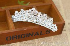 Wholesale 2015 Fashion Wedding Bridal Veil Rhinestone Tiara Crown Headband, Free shipping, $14.66/Piece | DHgate Mobile