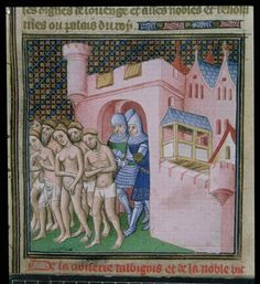 The expulsion of the Albigensians from Carcassonne: Catharist heretics of the 12th and 13th centuries, from `The Chronicles of France, from Priam King of Troy until the crowning of Charles VI', 15th century