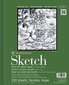 #fashion #Strathmore 400 Series Recycled Sketch Pad has high-quality, recycled paper that is made from acid-free formulas for the environmentally-conscious dry m...