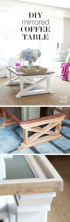 Check out how to make a DIY mirror coffee table from 2x4s @istandarddesign