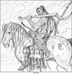 Arena John Howe Gameofthrones 01 More Information Longclaw Illustration By For A Game Of Thrones Colouring Book