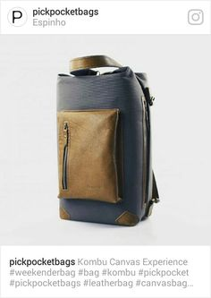 Kombu Model - Weekend Bag - Travel Bag - Leather and Canvas by Pickpocket - Pickpocket Bags
