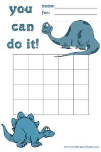 Dinosaur Charts - behavior management ideas for kids, kindergarteners and preschoolers