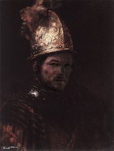 Norman with a golden helmet by mrcroc 35th place entry in Modern Renaissance 19