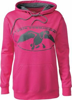 NEW! Duck Commander™ Women's Logo Hoodie (Colors Heliconia/Charcoal,Chocolate/Pink,Charcoal/Neon Green)
