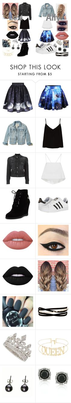 """""""Girl's Day Out"""" by chillaxed-wolf-lover on Polyvore featuring WithChic, Hollister Co., Raey, Dsquared2, A.L.C., MICHAEL Michael Kors, adidas, Lime Crime, Kenneth Jay Lane and Garrard"""