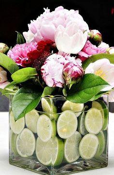 Fruit & Flower centerpieces