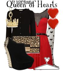 """Queen of Hearts"" by lalakay on Polyvore  Mk Gia Clutch"
