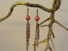 Pretty In Pink Earrings by NativePrideCreations on Etsy, $2.99