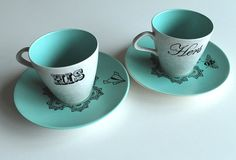 his and hers tea cups