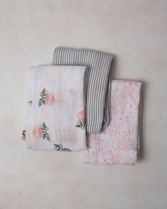 Our swaddles are 100% cotton muslin, breathable, lightweight, and perfect for swaddling your little one. Unique prints and softer with each wash..