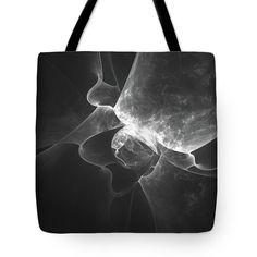 Mariia Kalinichenko Tote Bag featuring the digital art Black And White Abstract by Mariia Kalinichenko #MariiaKalinichenkoFineArtPhotography #ToteBag #ArtForHome #AbstractArt #Fractal
