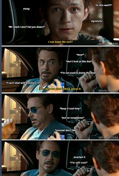 DONT SHOW EMOTION, TONY! (Tony Stark, Peter Parker, Iron Dad, Spider-Man: Homecoming)