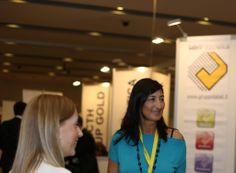 Stand Label Informatica con Caterina Bretti, Direttore Tecnico   13° Forum Expo ICT Security presso il Crowne Plaza Convention Centre di Roma. @Gruppo Label