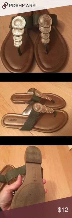 Ladies size 6.5 sandals Worn twice.  Dressy. Great for winter get aways in warm climates! Shoes Sandals