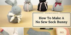 No Sew DIY Sock Bunny