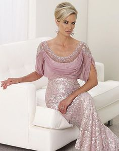 Hot Sell Pink Chiffon A Line Tea Length Beadiing Mother Of