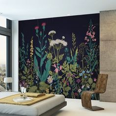22 Ideas Wallpaper Accent Wall Bedroom Murals For 2019 Bedroom Wallpaper Accent Wall, Accent Walls In Living Room, Simple Wall Paintings, Feature Wall Bedroom, Wall Wallpaper, Inspiration Wall, Wallpaper Bedroom Feature Wall, Creative Wall Painting, Home Wall Painting